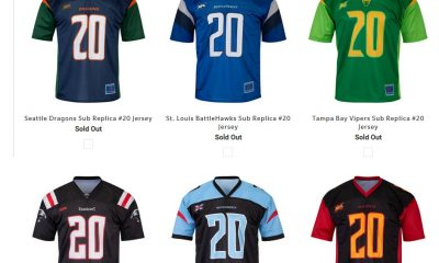 XFL Jersey Sold Out
